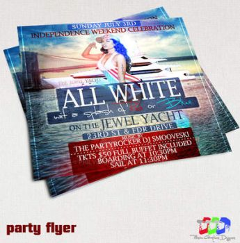 All White Affair Party flyer by PhilVision