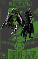 Marvel Vs Capcom 3 Dr Doom and Albert Wesker by Mathematic-Hack
