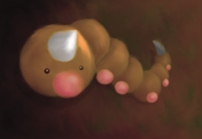 Weedle Painting by icycatelf