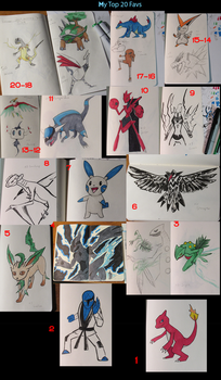 Pokemon Tribute top 20 by Project-KMR