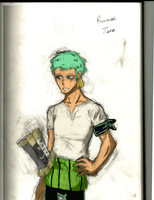 Zoro colored by toughcookie27