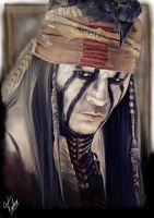 Portrait of Johnny Deep '' the lone ranger '' by TaliaJasta