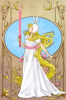 Adventure Time - Fionna Art Nouveau by TerraForever