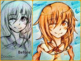 SAO OC ~ Ilish Miketsukami~ Before / After by Hitomi-chy
