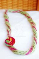 Cotton Peace Heart Necklace by BoutiqueVintage72