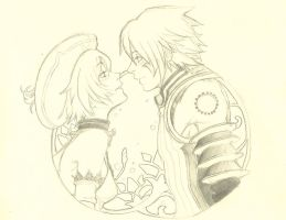 sketch Haseo e Atoli by Kite04