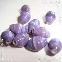 Lilac paper beads by AmeliaLune
