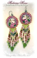 Medicine Horse Beaded Earrings by ChaeyAhne