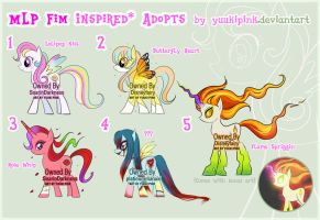 Adoptable Auction Set 02: MLP FiM Ponies (CLOSED) by yuukipink
