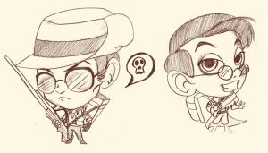 chibi sniper and medic by selene-nightmare69