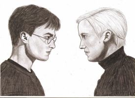 Harry Potter and Draco Malfoy by MajaGantzi