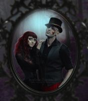 Gothic couple by Creamydigital