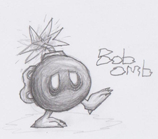Mario Creepy Enemies #6:Bob-omb by nick3529