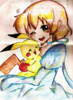 FanArt of pikachu by Claire1998