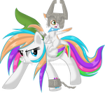 Starblaze and Toby Aventuring (Or Link and Midna?) by MLP-Starblaze