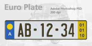 Euro Plate Template by spentoggle