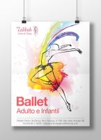 Ballet Poster by Bebecca