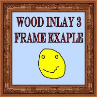 Wood Inlay 3 frames for PSP 8 by Wild-Card-CR