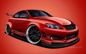Lexus ISF by dazza-mate