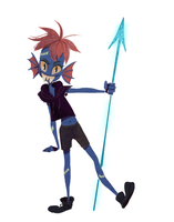 Youngster Undyne by emiris