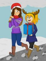 Santa and her Reindeer by Pakato3