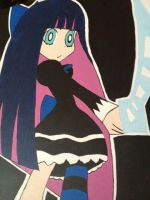 Stocking Anarchy Painting by ArtsyLibrarian