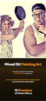 Mixed Oil Painting Art by hazratali2020
