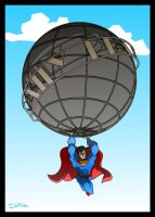Superman and the daily planet by ferwar