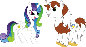 Rocky StarHooves and Princess Borealis by Vocaloid12