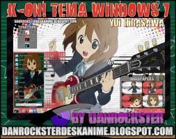 Yui Hirasawa Theme Windows 7 by Danrockster