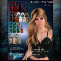 Felicia Painted Instant Hair PSD add on hair stock by MakeMeMagical