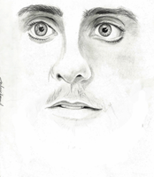 Jared Leto pencil drawing by DeadlyAngel-Drawings