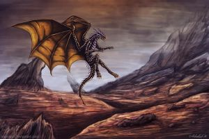 Armorplate-Dragon-flight by Vapolord