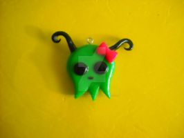 Cute ghostly creature Polymer Clay charm by ResurrectedVampire69