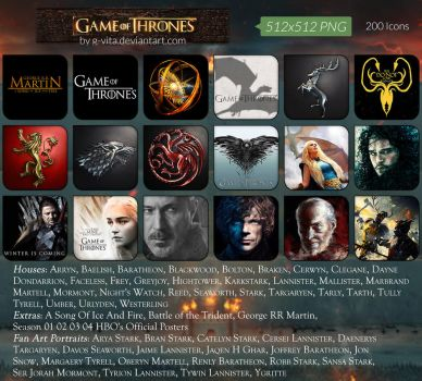 Game Of Thrones Icons by g-Vita