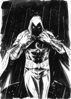 Moon Knight commission by MarcLaming