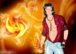 Ace and fire flowers by Reito-sama