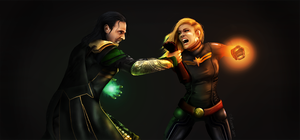 Loki vs Ms. Marvel by Keliane