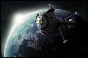 Concept Art - Captain Future Comet by ChristianBT