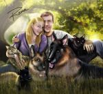 cats and dogs commission by RamaChan