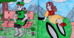 Sitting on Prince Jamie's shoulder (Request) by GreenDayLuigi
