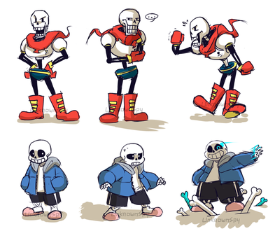 Sans and Papyrus Doodles by UnknownSpy
