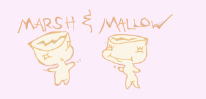 Marsh-kun and Mallow-chan! by the-Modest-Godess