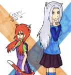 Kitty and Sayuki by Crazy226