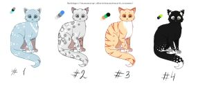 Point Adoptables: cats by Anary