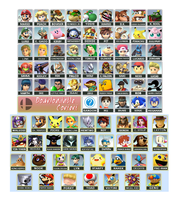 Final Smash Bros. Roster by AetherEch0s
