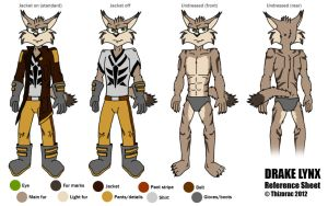 LU: Drake Lynx Reference Sheet by thizorac