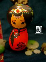 Tibetan Girl (Gourd by watermelon-riceball