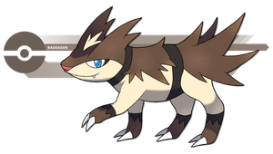 The Ratel Pokemon by Pokedro
