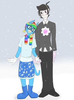 Pong and Theo - Winter Outfits by Gizigbo